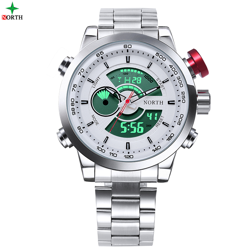 Men Sport Watch Waterproof Military LED Digital Watch Analog Alarm Relogios Masculinos 2017 Fashion Casual Sport