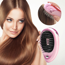 Electric Ionic Hairbrush Magic Takeout Mini Vibration Beauty Brush  Head Comb Massage Home Travel Using CW29