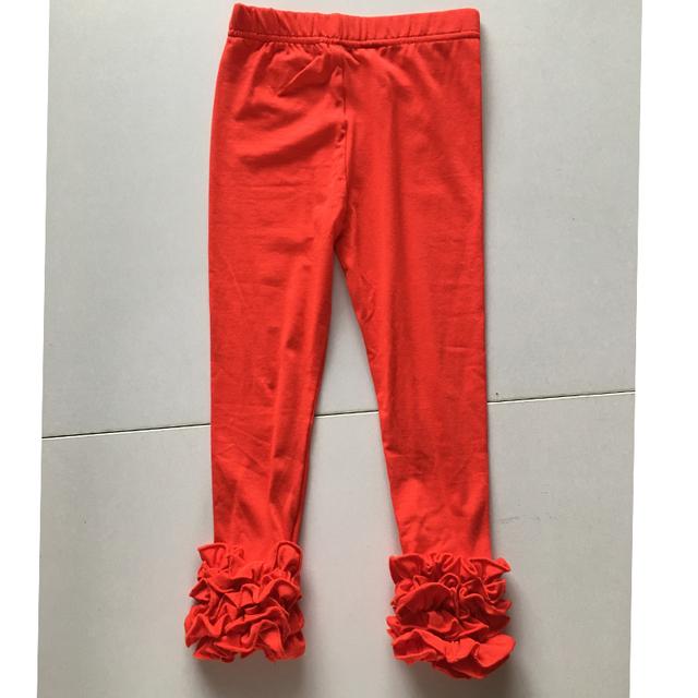 Christmas icing ruffle red leggings for girls Santa red ruffle pants leggings wholesale Christmas leggings dress for girl kids