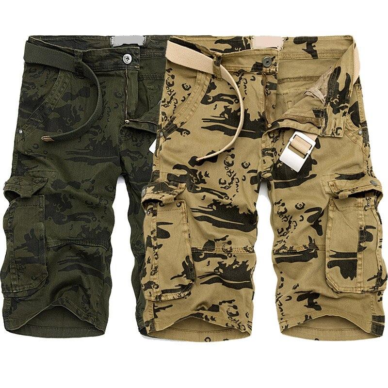 Men Shorts Sweatpants 2018 Summer Street Beach Biker Trousers Mens Casual Punk Camouflage Sweat Safari Style Short Jean