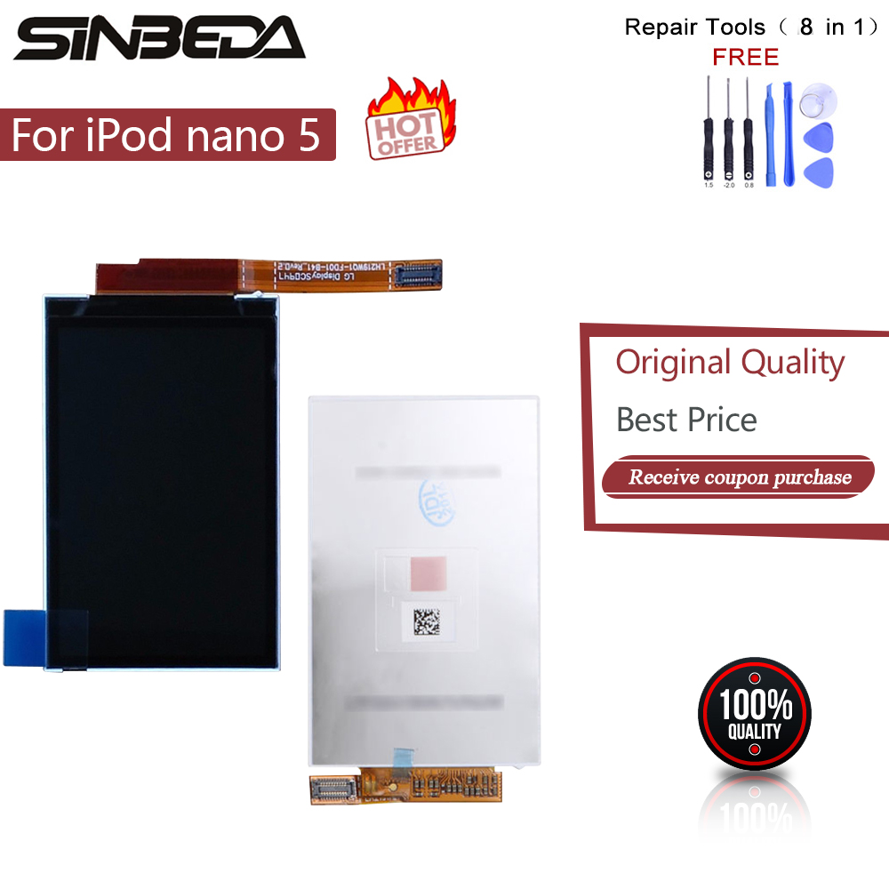 Sinbeda Brand New LCD Display Screen Replacement For iPod Nano 5 5th Gen 8GB 16GB Display Screen Free Tools(China)