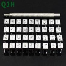 36 unids/set letras del alfabeto y juego de estampadores de números 3mm/6mm herramientas de cuero de perforación de letras de Metal para manualidades de cuero DIY