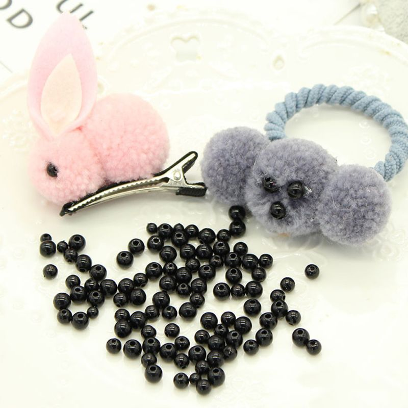 100pcs 3-12mm Black Safety Doll Eyes Sewing Beads For DIY Bear Stuffed Toys Scrapbooking Crafts
