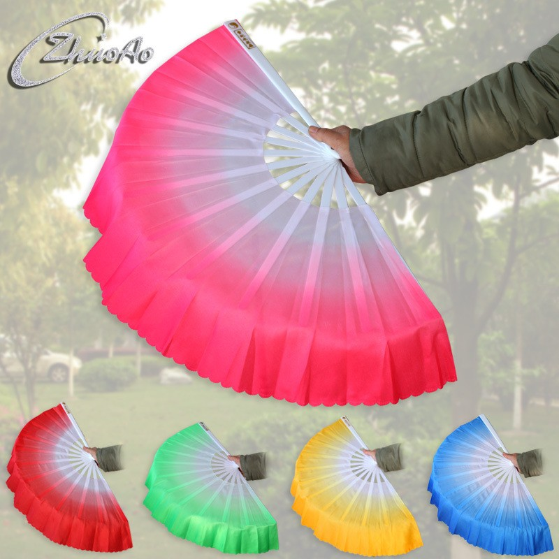 20pcs lot Free Shipping New Arrival Chinese dance fan silk veil 5 colors available For Wedding