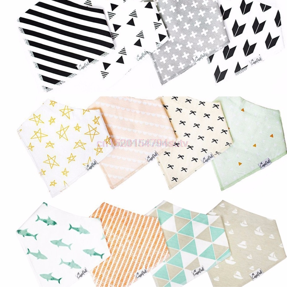 4Pcs Kids Baby <font><b>Bibs</b></font> For Boy&Girl Burp Cloths Waterproof Dribble <font><b>Bibs</b></font> Bandanas #H055#