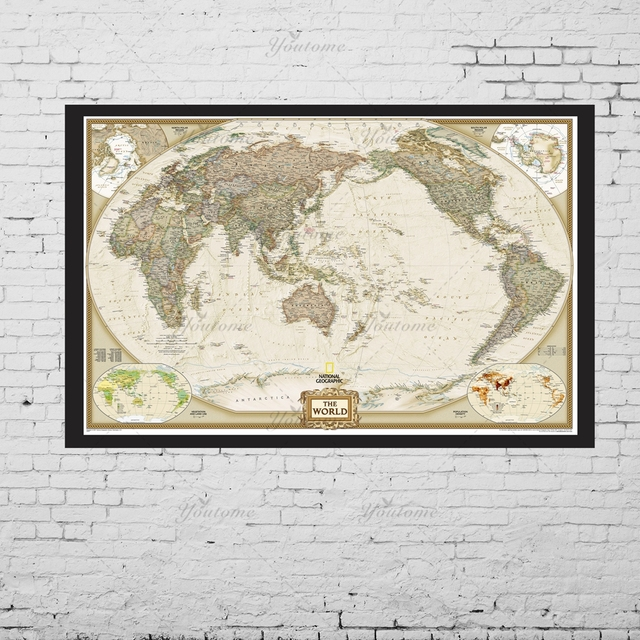 Large size wall art the world map painting on canvas prints europe large size wall art the world map painting on canvas prints europe vintage picture for living gumiabroncs Images