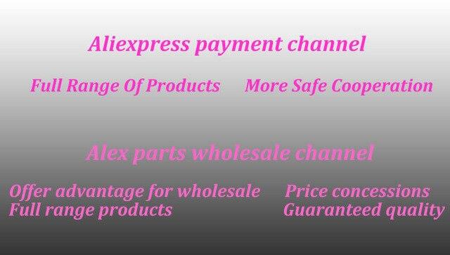 AliExpress платежный канал Alex parts оптовый канал (более широкий ассортимент товары/более безопасное сотрудничество/ценовые концессии)