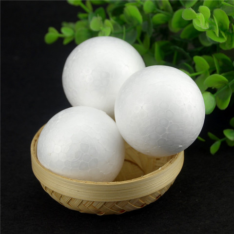 Hot 20PCS/Lot 60MM Modelling Polystyrene Styrofoam Foam Ball White Craft Balls For DIY Christmas Party Decoration Supplies Gifts Islamabad