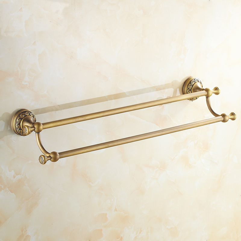 Antique copper double  towel bars rack, European brass bathroom towel bars vintage, Retro wall toilet hanging towel rack shelf partol black car roof rack cross bars roof luggage carrier cargo boxes bike rack 45kg 100lbs for honda pilot 2013 2014 2015