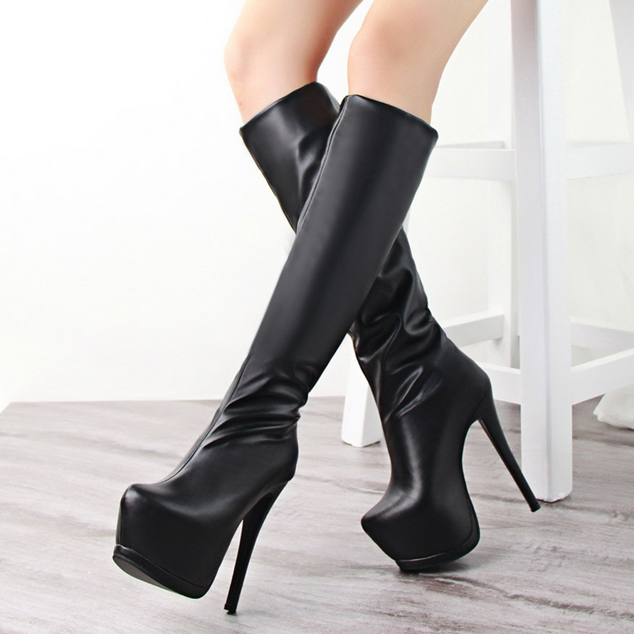 Fashion Sexy Suede High Heels Women Boots