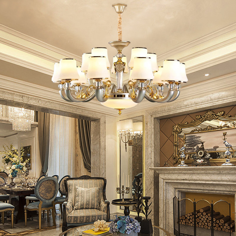 Living room Chandeliers crystal chandelier restaurant bedroom crystal lamp hotel modern lighting fixture led chandeliers light modern bedroom lamp art restaurant chandelier ring brass pendant lamp staircase entrance bar hotel room light