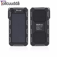 Tollcuudda External Battery Power Bank 13000mAH Solar LED Portable USB Charger Mobile Powerbank Cargador For Iphone