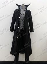 Anime cosplay Persona 5 P5 Akira Kurusu Phantom Thief Joker Cosplay Costumes Black Cloak pants A