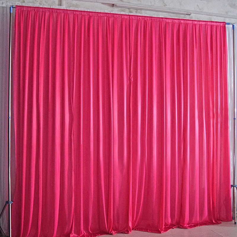 Plain simple wedding backdrop background for wedding party decoration ice silk white backdrop curtains for event