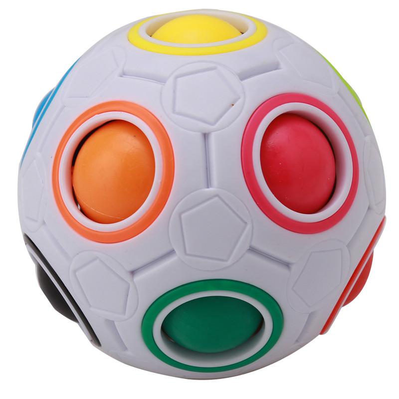 2018 1Pc Creative Magic Cube Speed Rainbow Puzzles Ball Football Educational Learning Toys for Children Adult Kids Toys(China)