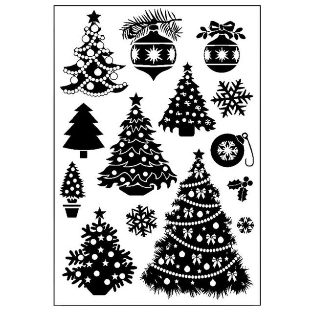 Christmas Tree Snowman Transparent Clear Silicone Stamp Seal Diy