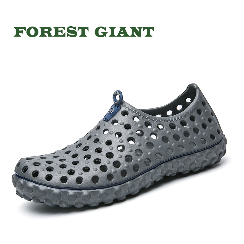 Fashion Men Women Breathable Slippers Hollow-out Beach Sandals Garden Hole Shoes