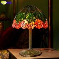 Фумат Книги по искусству Стекло лампа Высокое качество настольная лампа чисто Медь лотоса пятнистости Стекло творческий для Гостиная иссл