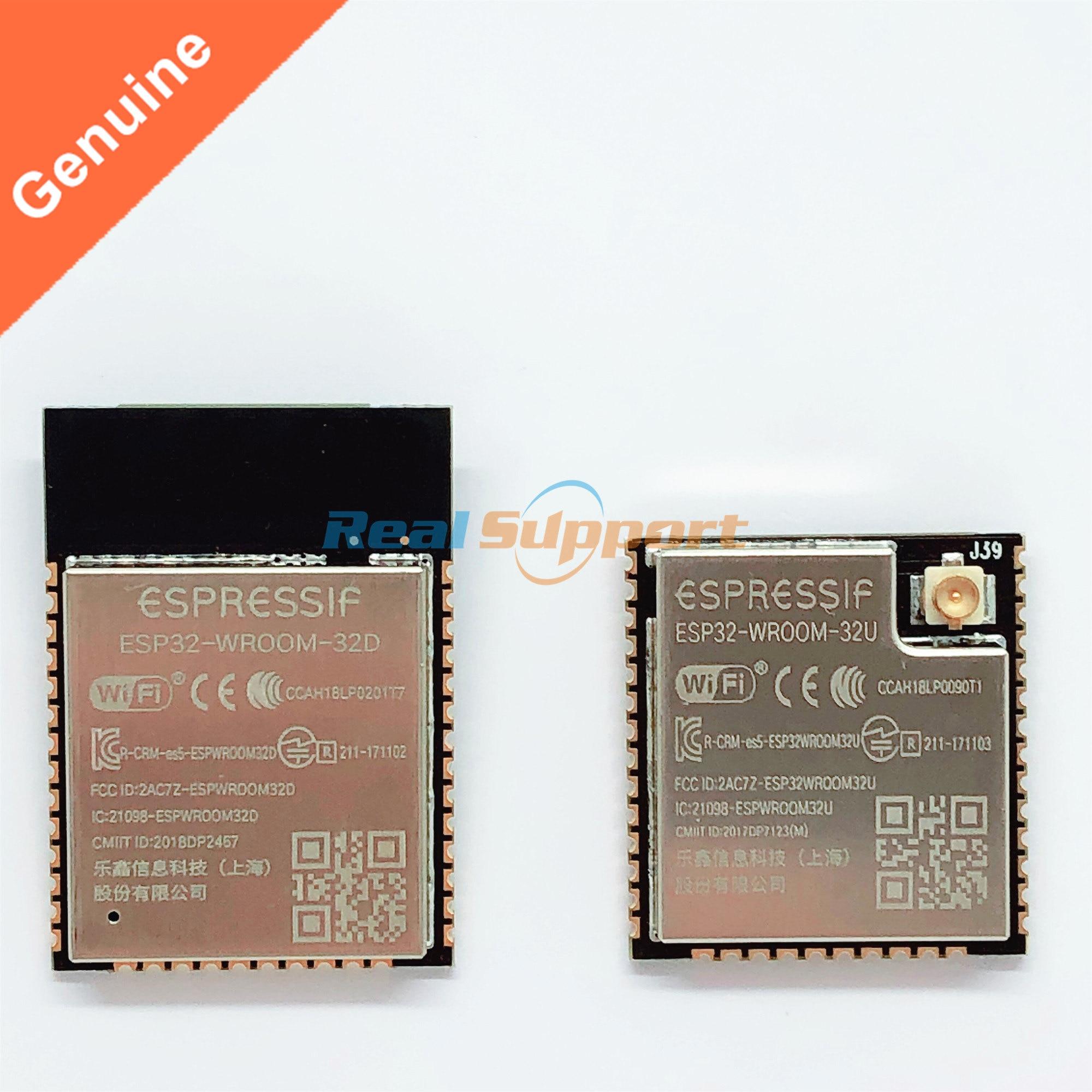 US $2 88  ESP32 WROOM 32D ESP32 WROOM 32U WiFi+BT+BLE ESP32 Module onboard  antenna / U FL IPEX IPX connector 4MB Flash Espressif Original-in