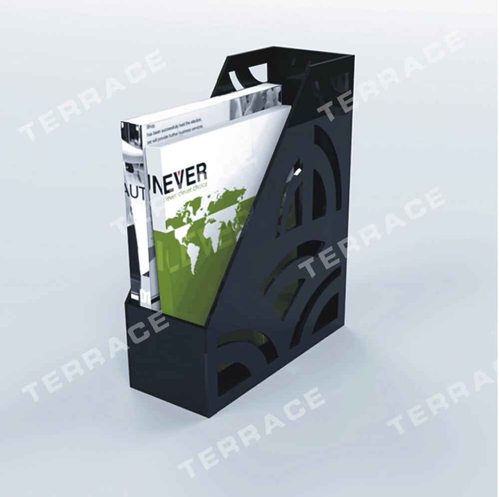 (2PCS/LOT )Vertical acrylic File Holder, Foggy Lucite brochure magzine holder A4 size