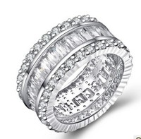 genuine sterling silver 925 womens rings wedding rings unique silver rings women luxury ring