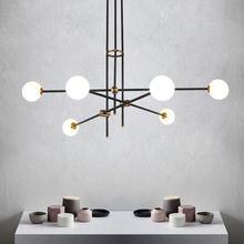 מודרני LED תקרת נברשת תאורה פשוט קו Creative אישיות מולקולרי עבור סלון חדר שינה מסעדת אורות