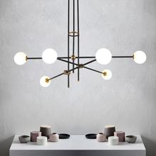 Modern LED ceiling Chandelier lighting Simple Line Creative Personality Molecular for Living Room Bedroom Restaurant Lights