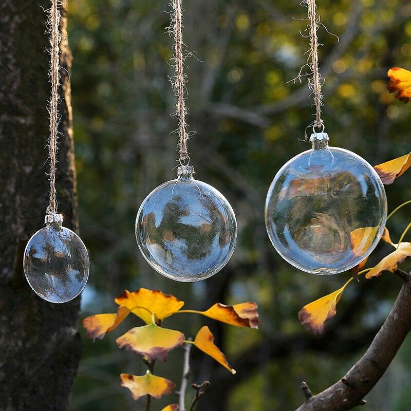 Glaskugeln klar weihnachtsbaum
