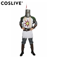 Coslive Solaire Cosplay Costume Dark Souls Outfit Forever Sun Warrior Full Suit Halloween Cosplay Costume For Men Adult
