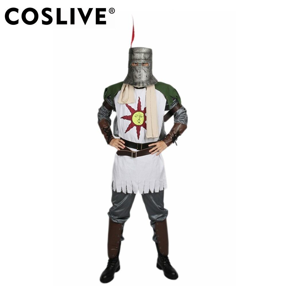 Coslive Solaire costume cosplay Dark Souls Tenue Toujours Soleil Guerrier Plein Costume costume d'halloween Pour Les Hommes Adultes