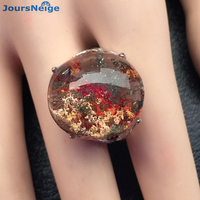 High Quality Red Natural Ghost Crystal Ring S925 Sterling Silver Ring Lucky for Men Women Gift Crystal Ring Jewelry Wholesale