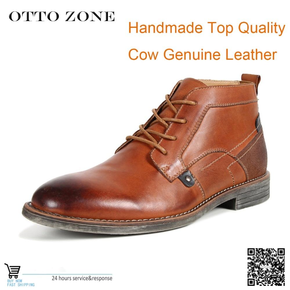 Wcierane i polerowane oryginalne skórzane buty męskie buty wiosna/jesień botki moda obuwie zasznurować rocznika brytyjski styl na AliExpress - 11.11_Double 11Singles' Day 1