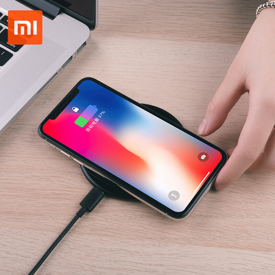 New Original Xiaom ZMI 10W Fast Wireless Charger Iphonex/8/8p Note8 S9/S9 Nokia Moto2 NEXUS 2.5D Glass Surface Wireless Charger цена и фото