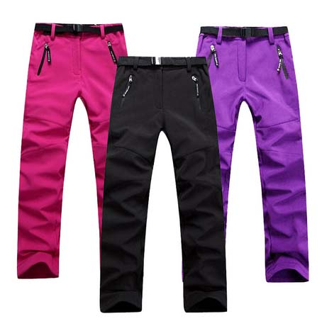 Women Winter Trekking Hiking Pants Camping Outdoor Trouser Soft Shell Fleece Warm Wear Resistant Waterproof Windbreak