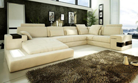 2013 New Euro Design Moden Living Room Furniture Made With Top Grain Cattle Leather Large Size