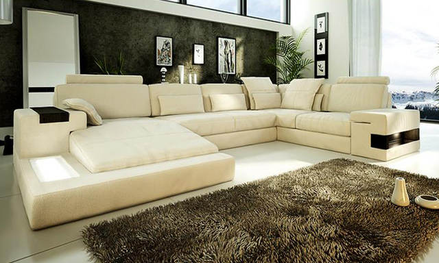 US $2199.0 |Hot Sale Sofa Modern Design Couches living room furniture Sofa  Real leather large size U Shaped Corner Sofa Set Furniture Set-in Living ...
