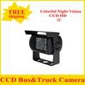 HD CCD Car Câmara de Visão Traseira Reversa de backup Câmera de estacionamento retrovisor ângulo vide 18 IR de Visão Noturna À Prova D' Água Ônibus Câmera Caminhão
