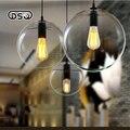 Modern brief rustic restaurant lights bedroom glass ball pendant light -Diameter 200/250/300/350mm