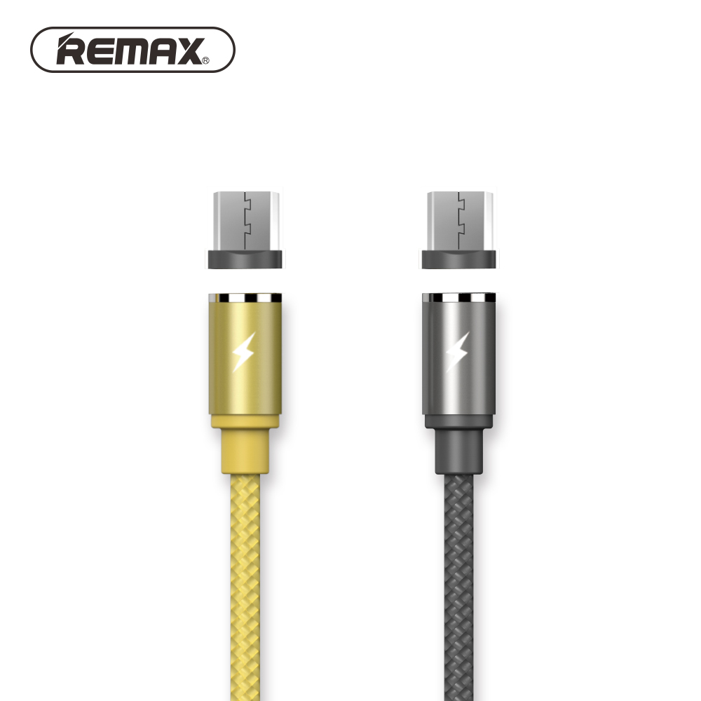 Remax 1M(3.3ft) Gravity Series LED Magnetic Cable for Samsung S7 Micro USB Devices Mobile Phone Cable Magnet Charger Cable 12mm extra long head micro usb cable extended connector 1m cabel for homtom zoji z8 z7 nomu s10 pro s20 s30 mini guophone v19