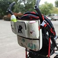 Baby Stroller Accessories universal cartoon bag can put cup and Feeding bottle Pouch hung on baby stroller