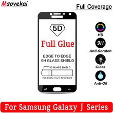 5D 9D Full Glue Tempered Glass For SAMSUNG Galaxy J4 J6 J7 J8 J2 Pro 2018 J3 J5 Duo Prime 2 Max Cover Protector Film