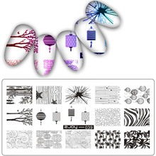 Nail Stamping plates Chinese style Pattern Stainless Steel Nail Art Stamping Plates Nail Polish Print Template