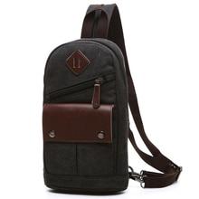 Vintage Rucksack Canvas Men Backpack Male Students School Bags Retro Man One Shoulder Chest Bags Triangle Back Pack Bolsas