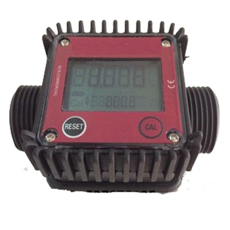 K24 turbine flow meter Plastic Interface 1 inch digital liquid flow meter electronic tester water tool k24 turbine flow meter for water