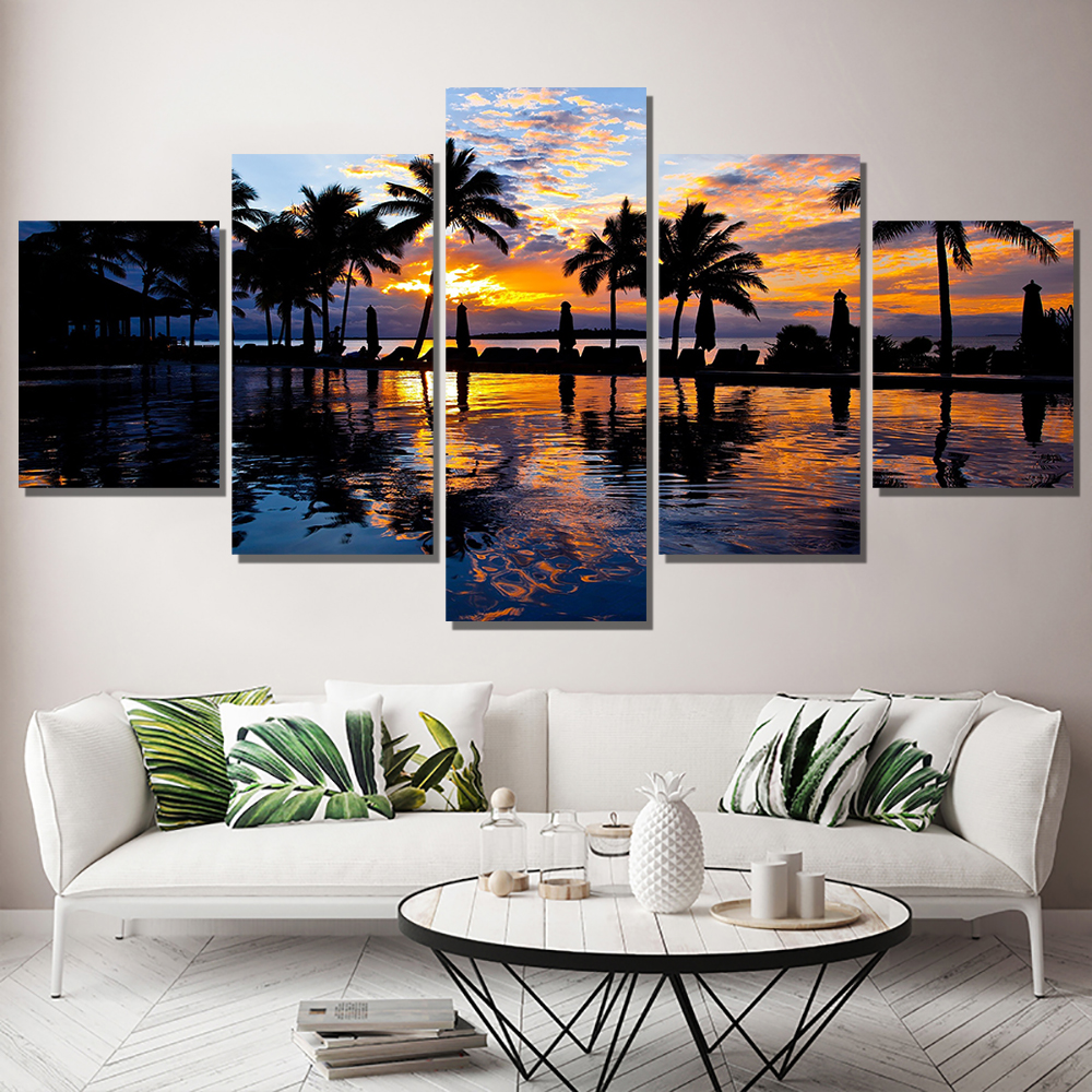 Painting By Numbers Poster Wall Painting Wall Pictures For Living Room Lienzos Cuadros Decorativos Cuadros Modernos Art Poster