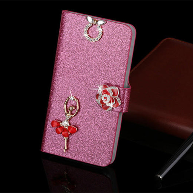 Bastec Luxury Fashion Built-in Card slot Silk Pattern Stand Flip Leather Mobile Phone Case for iPhone 7 6 6S Plus 5s 5c 5 4s 4