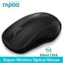 Оригинал Rapoo silent Беспроводной оптический Мыши кнопка отключения звука нажмите мини Бесшумная игры Мыши компьютерные 1000 Точек на дюйм для MacBook PC ноутбук