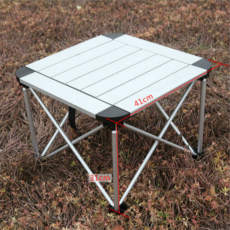 Camping Folding Dining Table Outdoor Portable Light Fishing Desk Multifunction Le Side Furniture Beach