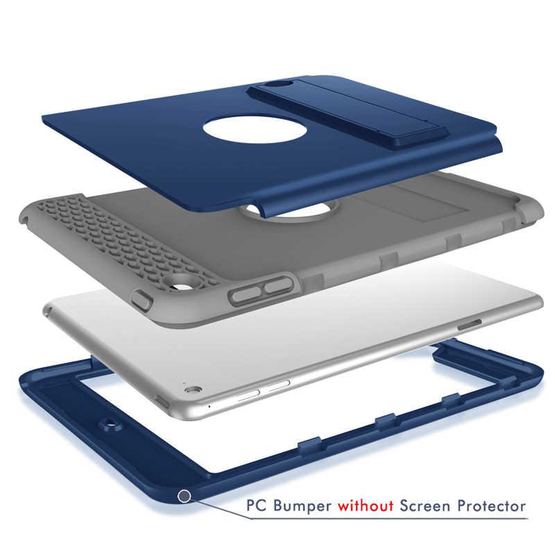 أحدث الاطفال آمنة السيليكون حامل للكمبيوتر الشخصي اللوحي عودة حافظة لجهاز iPad 9.7 بوصة 2017 العالمي لينة عودة غطاء ذكي لأبل اي باد 9.7 2018