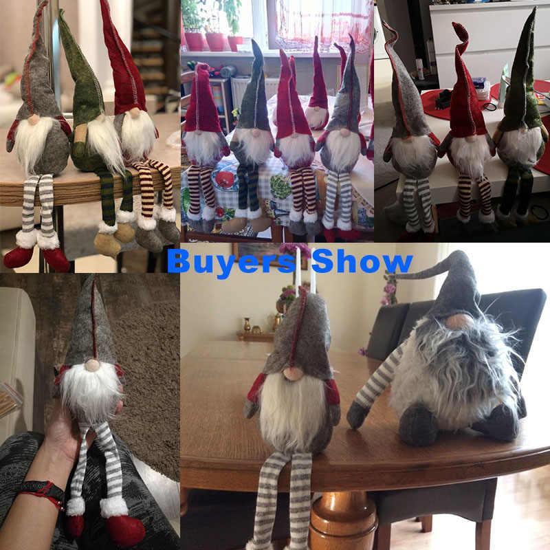 חג המולד Elf נואל יושב ארוכת רגליים פסטיבל חדש שנה ארוחת ערב Navidad 2018 חג המולד קישוטים לבית